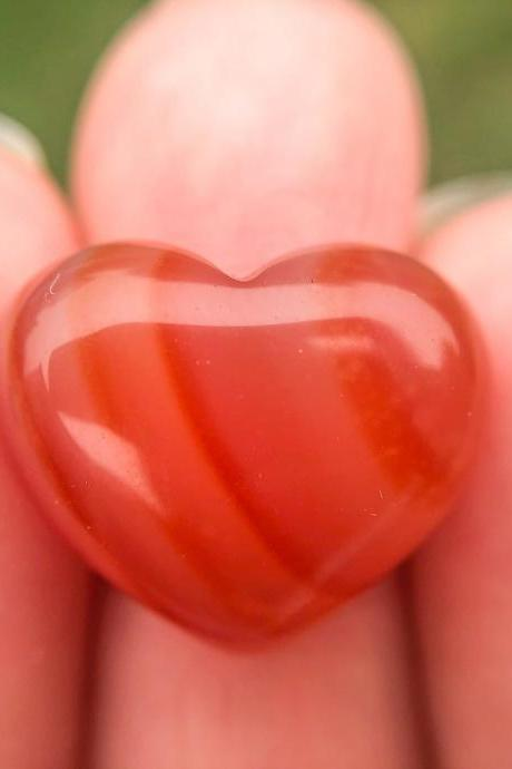 Carnelian Heart Ring, Heart Ring, Silver, Gold, Rose Gold, or Copper Rings