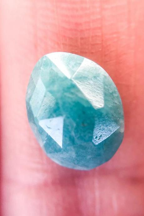 Rose Cut Amazonite Stone Available for Custom Ring, Silver, Gold, Rose Gold Rings